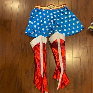 Wonder Woman skirt and boot covers-adult